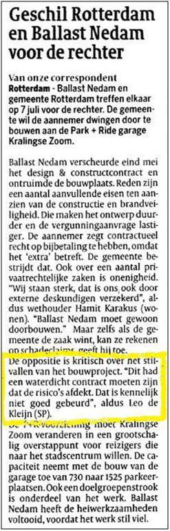Artikel Cobouw 17 juni 2011