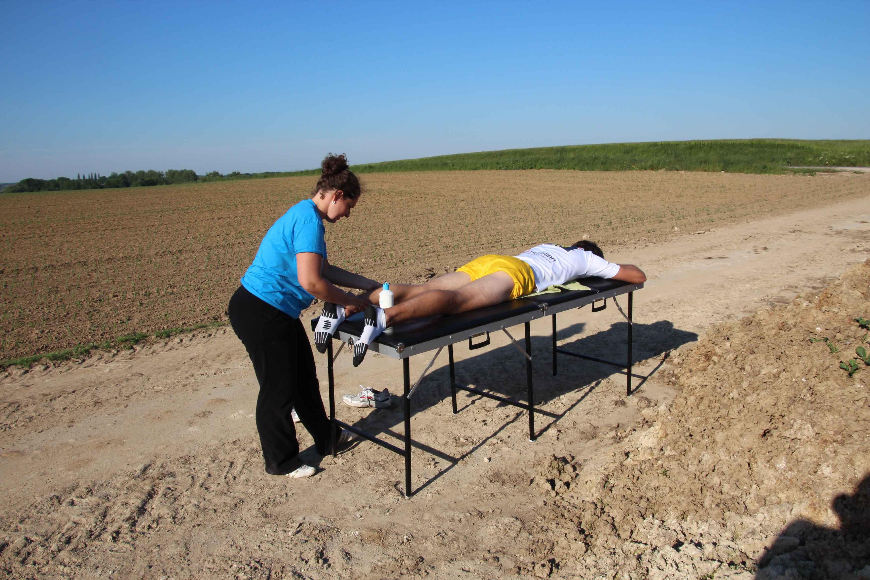 Massage naast de mesthoop